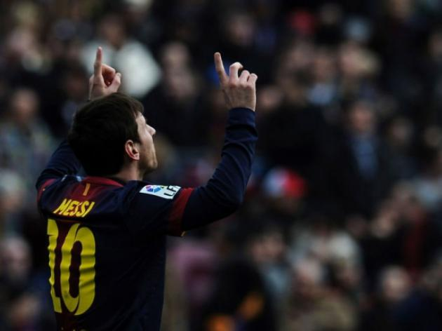 Messi hits 300th Barcelona goal