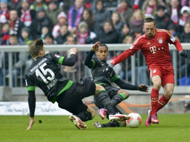 Bayern Munich open 18-point lead after hitting six past Werder Bremen