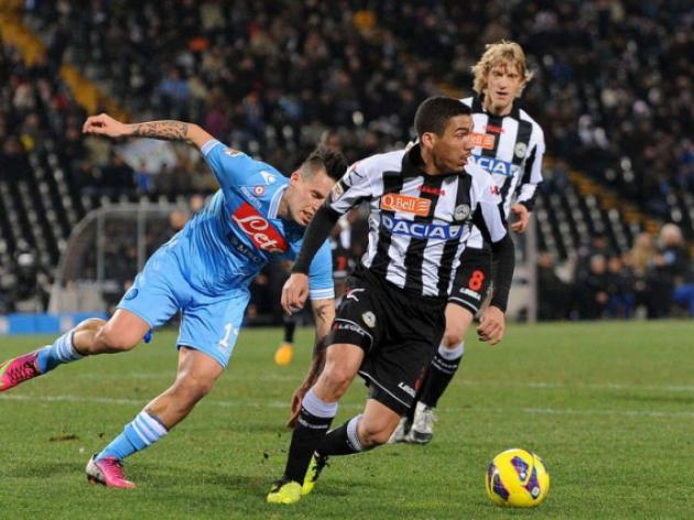 Udinese hold Serie A title chasers Napoli to a scoreless draw