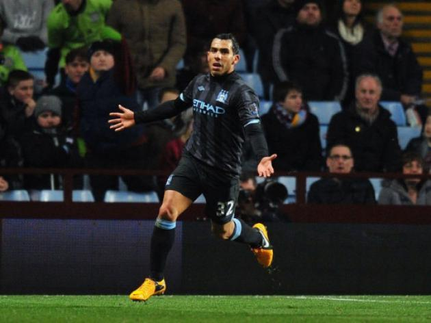 City still in the hunt as Tevez sinks Villa