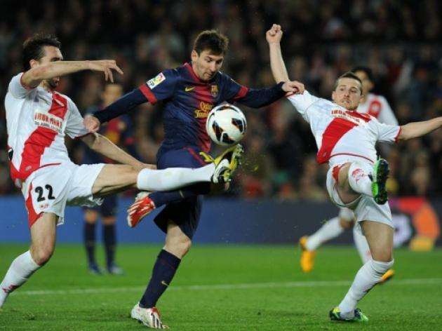Barcelona happy with Lionel Messi and David Villa double act