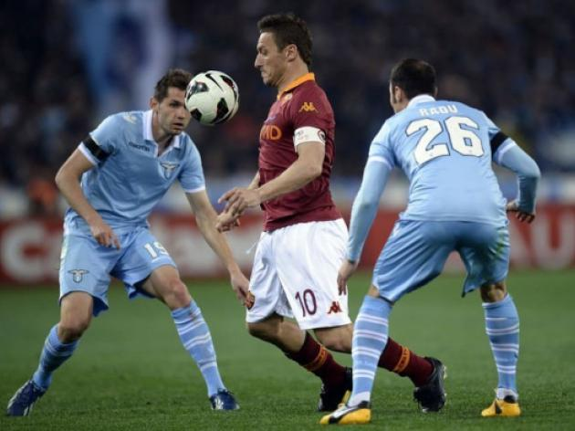 Lazio let slip win in Rome derby