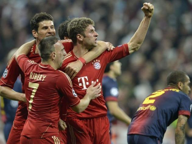 Bayern thrash Barca in semi-final first leg