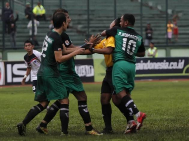Indonesian given life ban for punching referee