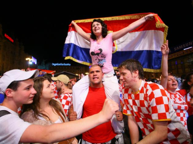 Croat fans head to Poland after win