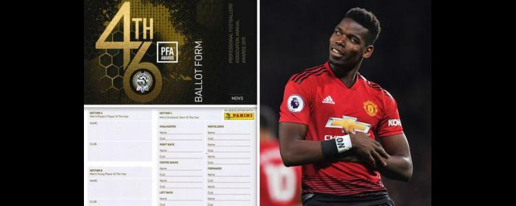 What players are told ahead of PFA Awards… and why Paul Pogba received votes - EXCLUSIVE