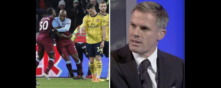 Jamie Carragher singles out Arsenal star who was 'shocking' against West Ham