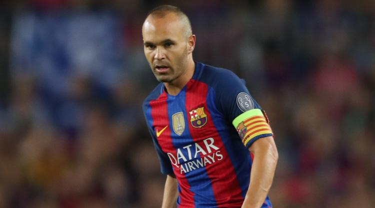 Barcelona captain Andres Iniesta set for spell on sidelines with knee injury