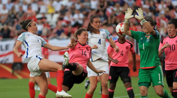 Hat-trick hero Jodie Taylor credits team-mates as England hit Scotland for six