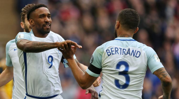 Jermain Defoe & Jamie Vardy net as England beat Lithuania in World Cup qualifier