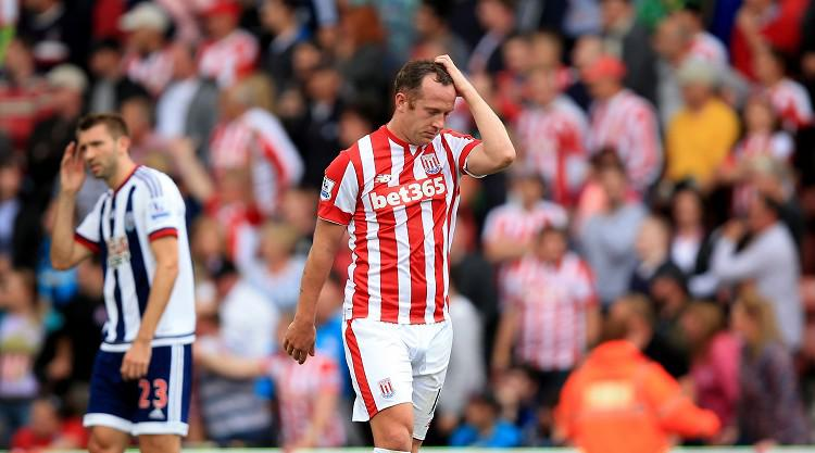 Nine-man Stoke fall to 1-0 defeat by West Brom