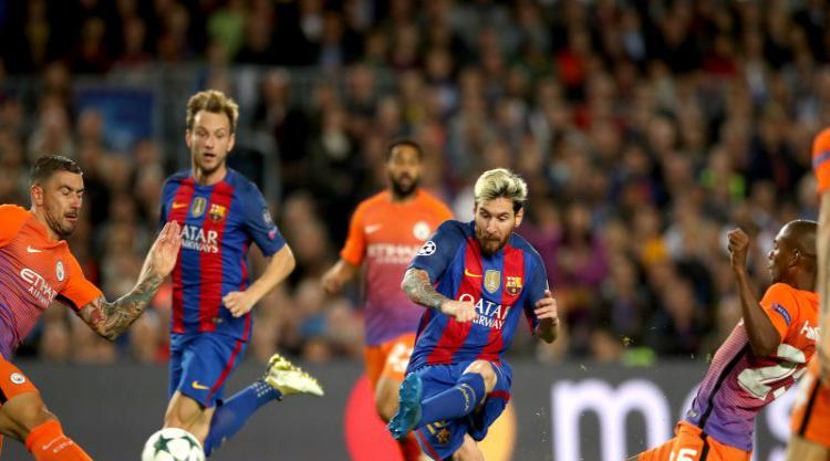 6707aee3bdb Lionel Messi scored a hat-trick as Manchester City were thrashed 4-0 on a  nightmare return to Barcelona for Pep Guardiola and Claudio Bravo.