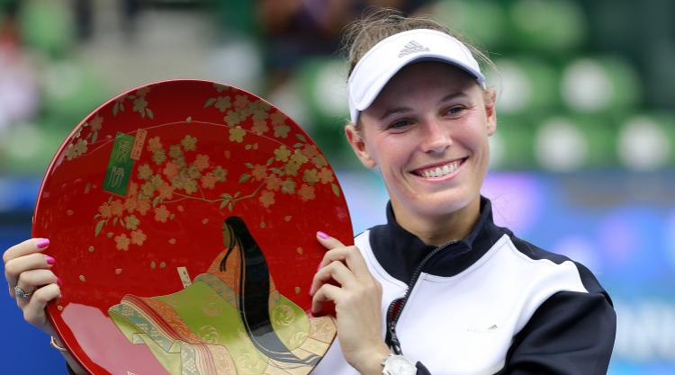 Wozniacki lands first title of the year in Tokyo