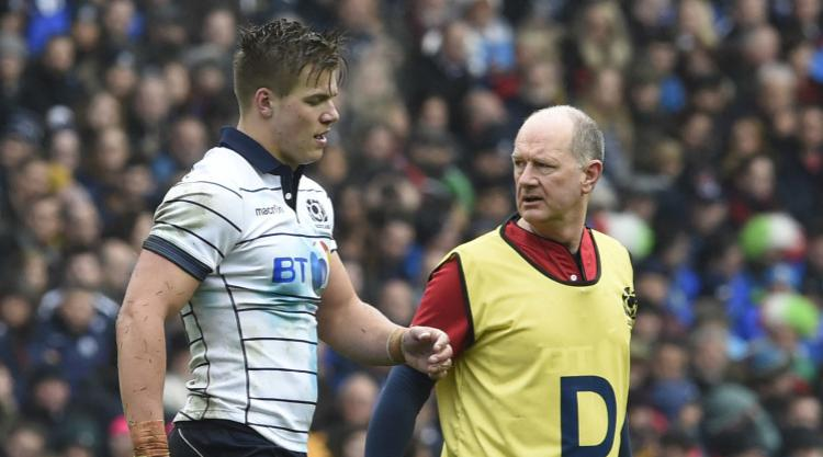 Huw Jones to miss Lions and Scotland tours after tearing hamstring against Italy