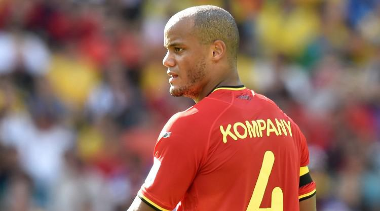 Kompany sees red in Belgium win