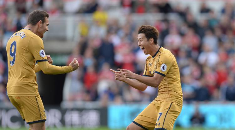 Son Heung-min at the double as Tottenham down Middlesbrough