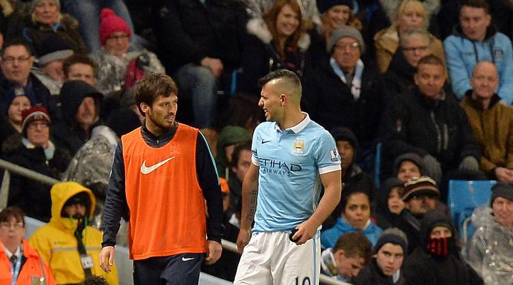 Man City boss Manuel Pellegrini plays down Sergio Aguero injury fears