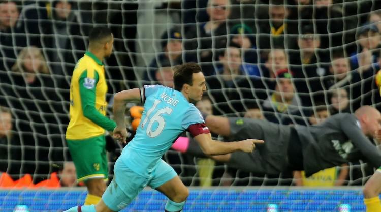 West Ham captain proud of Noble fightback against Norwich