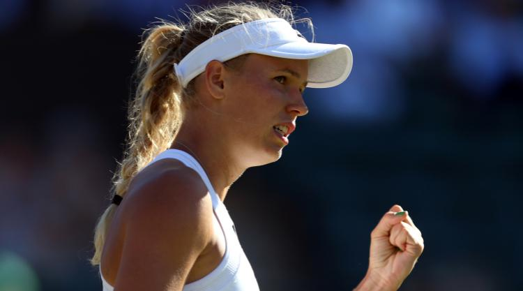 Caroline Wozniacki finishes strongly to reach the second round in Sweden