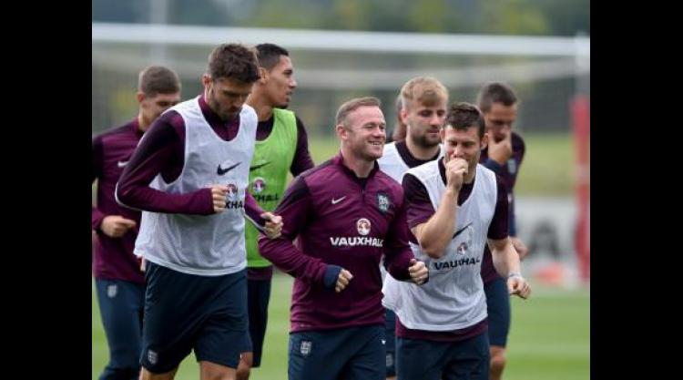 Wayne Rooney trains with England team-mates ahead of San Marino trip