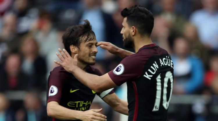 Sergio Aguero at the double in Swansea as Manchester City experience joy of six