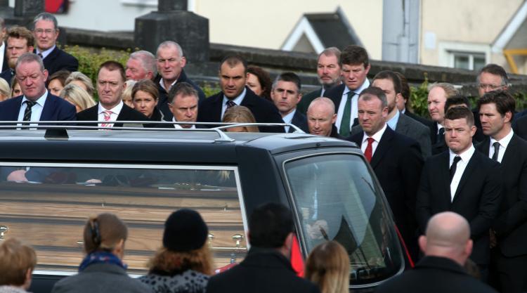 Anthony Foley left 'indelible, affirming marks', priest tells mourners