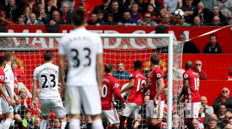 Swansea claim vital point in survival race as they draw at Manchester United