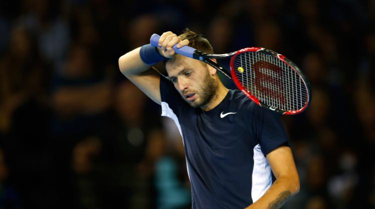 Dan Evans penalised for swearing as he loses in Miami Open first round