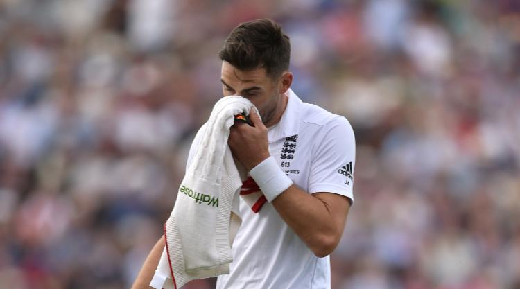 James Anderson misses start of day two of Lancashire-Yorkshire with groin issue