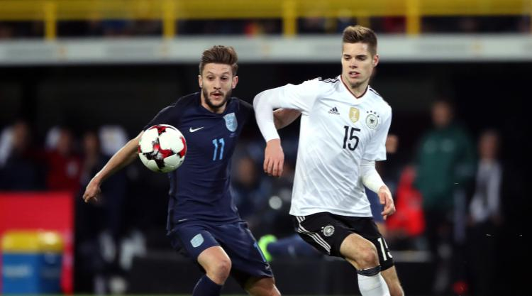 Adam Lallana: Tactical switch worked well in Germany despite defeat