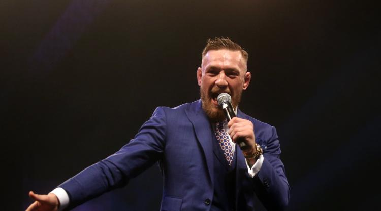 Conor McGregor comes face-to-face with Floyd Mayweather and Paulie Malignaggi