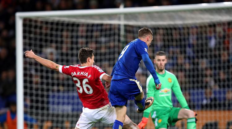 Jamie Vardy breaks Premier League record but Foxes are foiled by United