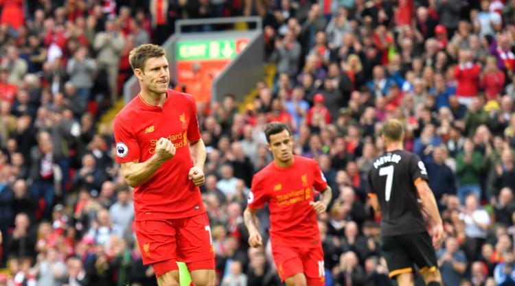 James Milner's brace of penalties helps five-star Liverpool crush hapless Hull