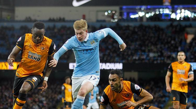 De Bruyne brace helps Man City past Hull & into the Capital One Cup semi-finals