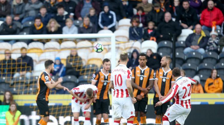 Xherdan Shaqiri fires Stoke to victory at Hull