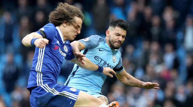 Luiz puts Aguero clash down to 'quite normal frustration' on striker's part
