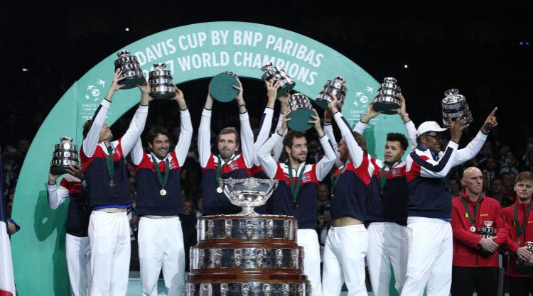 Lucas Pouille holds nerve to secure a 10th Davis Cup title for France