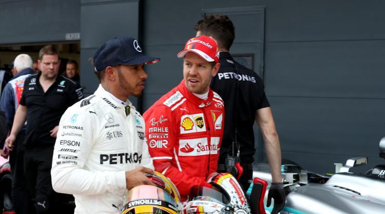 Vettel gets better of Hamilton as rain hits Japan first practice