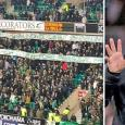 Celtic fans unveil NEW banner at Hibs clash slamming Brendan Rodgers after Leicester exit