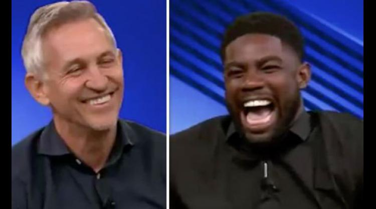 Micah Richards in hysterics after taking cheeky dig at Gary Lineker on Match of the Day